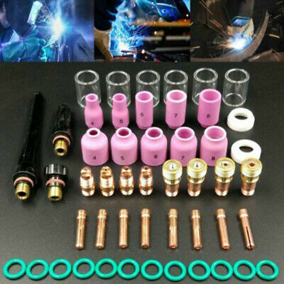 49X TIG Welding Torch Stubby Gas Lens Alumina Nozzle Cup Kit For WP-17/18/26