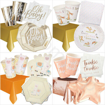 Pink Elephant Girls Baby Shower 8-48 Guest Party Pack CupsPlatesNapkins