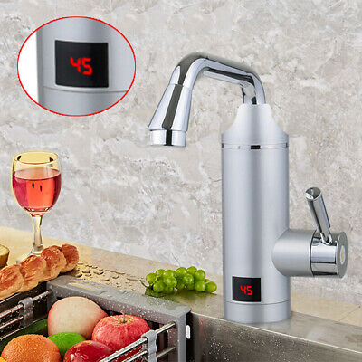 220V Tankless Electric Instant Hot Water Heater Faucet Kitchen Heating Tap 3KW