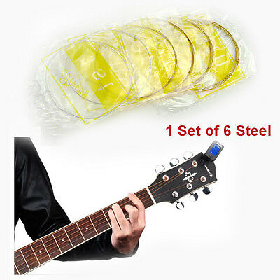 6pcs/set Steel Strings For Acoustic Guitar 150XL 1 M 1st-6th String