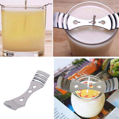 15PCS Silver Metal Candle Wicks Holders DIY Candle Soap Making Tool-10cm*2.5cm Q