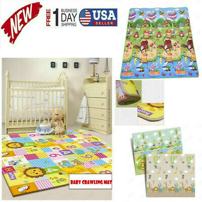 Portable Large Double Sides Non-Slip Waterproof Baby Exercise Crawling Play Mat
