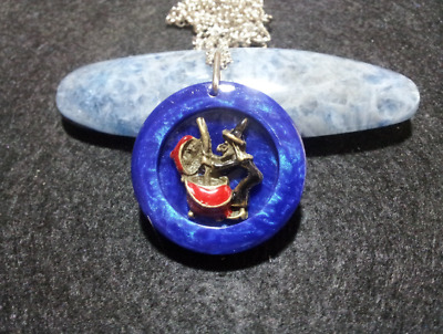 Witch and Cauldron Necklace,wiccan jewelry,witchcraft,pagan,fun,witchy,novelty