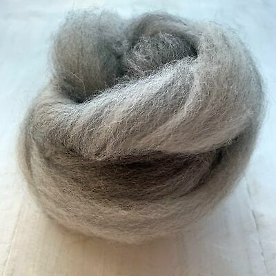 Australian Raw Alpaca Fleece Tops for Spinning or Felting - Grey Blend