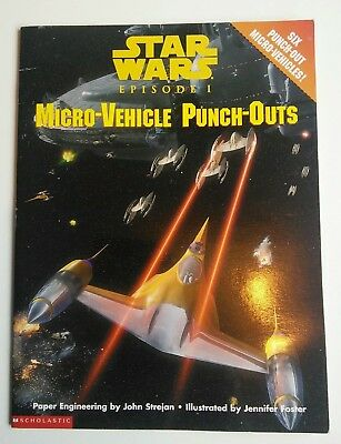 Star Wars Episode I Micro Vehicle Punch Outs Paper Craft Star Wars Vehicles 1999