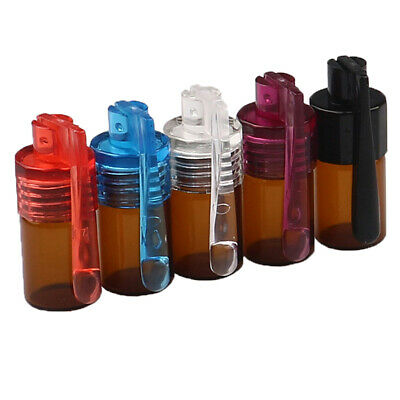 Glass Round Bottle Waterproof Pill Case Sealed Container Mini Snuff BottlePM