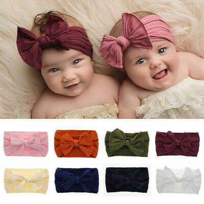 Hair Accessories Toddler Turban Baby Nylon Headband Bow Hairband Knotted Turban