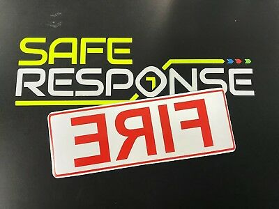 STICKER sign FIRE Mirror Retained firefighter signage Car emergency Response