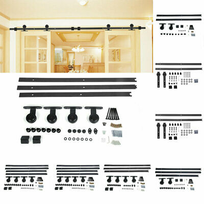 Sliding Barn Door Hardware 1.83M-4M Single / Double Closet Doors Track Wheel Kit