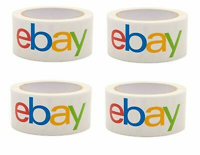"4 Rolls. 2"" x 75 yards Classic - Official eBay Branded Packaging Tape Multi-Pack"