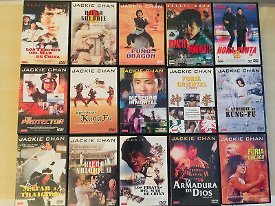 Pack Lote 15X Peliculas Dvd Coleccion Jackie Chan