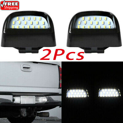 1 Pair LED SMD License Plate Lights Lamp For 1999-2013 Chevy Silverado Avalanche