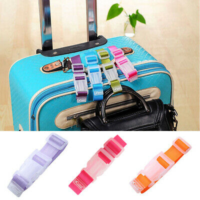 Luggage Case Straps Suitcase Clip Protect Belt Adjustable Buckle Travel Shopping