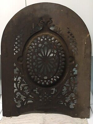 Fs V Br Cast Iron Grapevine Designed Fireplace Screen