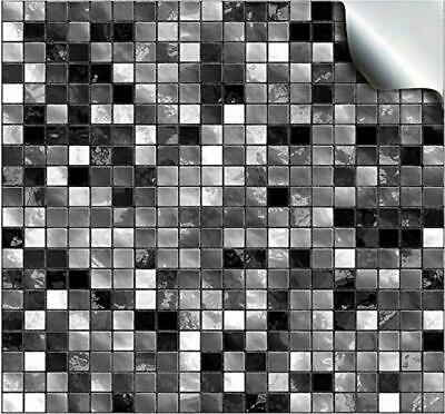 24 Black White Kitchen Bathroom Tile Stickers Transfers Flat Printed Covers for