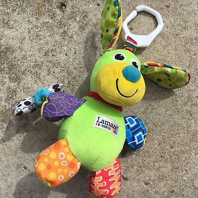 "LAMAZE ""Green"" Gorgeous Puppy Dog Shaped Babies Clip-on Animal Soft Toy"