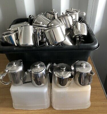 Over 50 Stainless Steel Commercial Coffee / Tea Pots. 4 Different Types