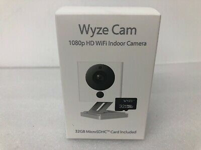 Wyze Cam v2 1080p HD Indoor Wireless Smart Home Camera Night Vision w/ 32GB Card