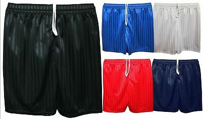 Boys Girls Kids Childrens Football School Sports Shadow Stripe  PE Shorts