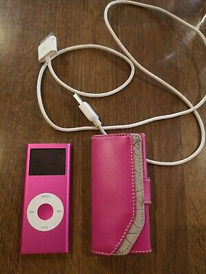 Ipod Nano metallic Pink. Leather Cover And Charger Included. Great condition.