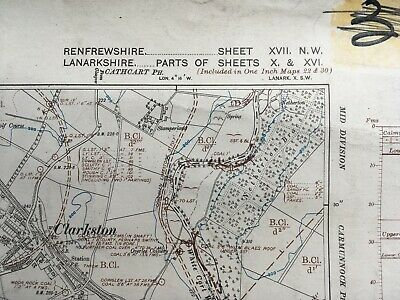 Geological Map edition of 1914. County Quarter Sheet Renfrewshire XVII. NW.