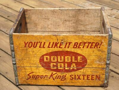 Vintage Wooden Double Cola Bottle Crate Old Box Rocky Mount Nc