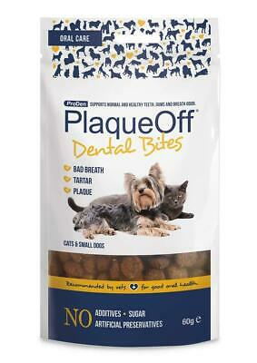 Dog Dental Bites Plaque Off And Cat Treats, 60 G Teeth Care Support Your Dogs