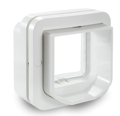Dog and Cat Door Pet Flap - 4 Way Locking Microchip with RFID - Puppy Safe