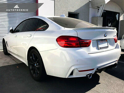 AutoTecknic BM-0106 High-Kick Trunk Spoiler Fits 15+ BMW F36 4-Series Gran Coupe