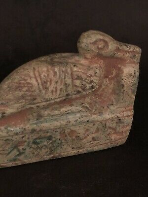 Rare Ancient Egyptian Faience Amulet Of Ibis 26th DYN 680 Bc