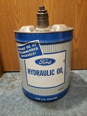 RARE VINTAGE FORD Tractor Truck Hydraulic Motor Oil Can 5 Gallon 1968 Very  Nice!
