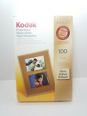 KODAK Photo Paper Glossy, 4 x 6 Inches, Instant Dry 100 Sheets New Sealed