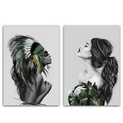 Modern Abstract Women Canvas Art Poster Print Wall Picture Home Decor 35*50cm