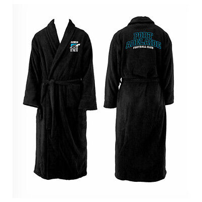 Adelaide Port Power AFL Youth Kids Dressing Gown Bath Robe Medium Birthday Gift