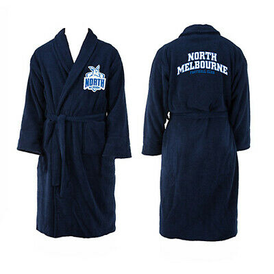 North Melbourne Kangaroos AFL Youth Kids Dressing Gown Bath Robe Medium Gift