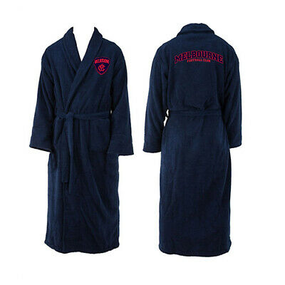 Melbourne Demons AFL Youth Kids Dressing Gown Bath Robe Medium Birthday Gift