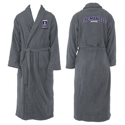 Fremantle Dockers Freo AFL Youth Kids Dressing Gown Bath Robe Medium Gift