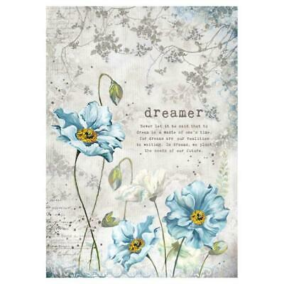 Rice Paper - Decoupage - Stamperia - 1 x A4 Size Sheet - Dreams