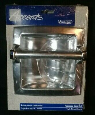 Recessed Soap Dish and Grab Bar Chrome  Accents by Amerock 52184