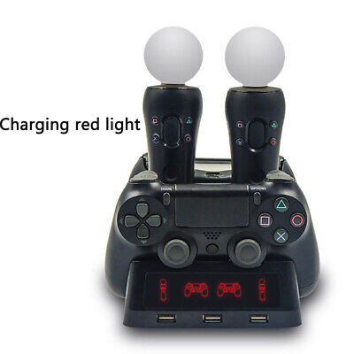 For PS4 Controller Fast Charger Charging Dock Station Stand Gamepad Accessories