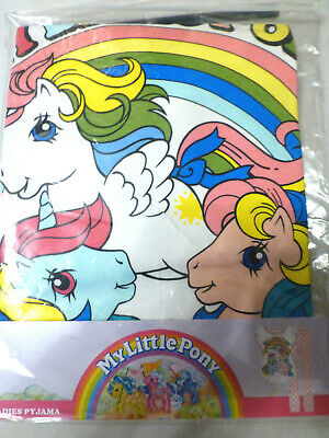 Womens Ladies Little Pony Rainbow  Pyjamas Set 8-10,  16-18