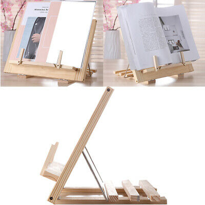Cook Reading Stand Home Adjustable Angle Wooden Frame Study Supplies Book Holder