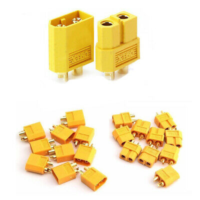 50Pairs XT60 Male & Female Bullet Connectors Plugs For RC LiPo Battery