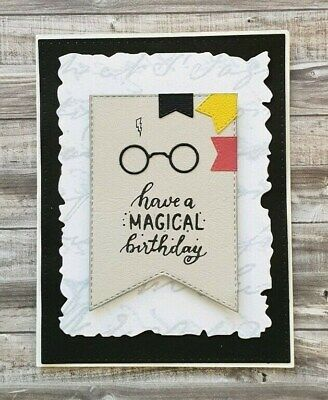 Handmade Birthday Card Harry Potter Magical Birthday HP Glasses