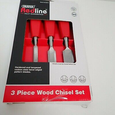 Draper Wood Chisel Set of 3 (10, 19 and 25mm) 68472