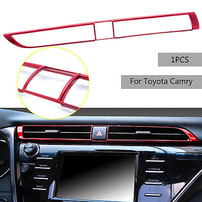 FOR TOYOTA CAMRY 2018 2019 Red ABS Central Control Outlet Air Vent Cover  Trim AC