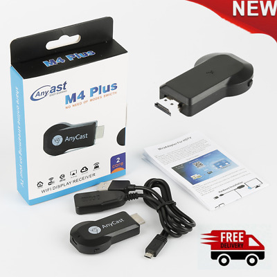 AnyCast M4 Plus WiFi Display Dongle Receiver Airplay Miracast HDMI TV DLNA Cast