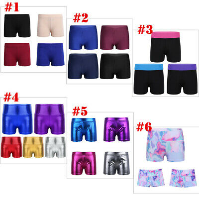 Girls Dance Gymnastics Shorts Kids Sports Workout Running Yoga Clothes Hot Pants