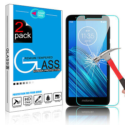 For Motorola Moto E6 Premium Real Tempered Glass Screen Protector 9H Film Cover