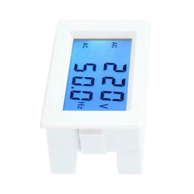 Two-wire AC LCD Panel Digital Frequency Meter Monitor Voltage Gauge Voltmeter